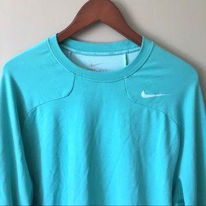Nike Pro Training Dri-Fit Teal Crewneck Sweatshirt